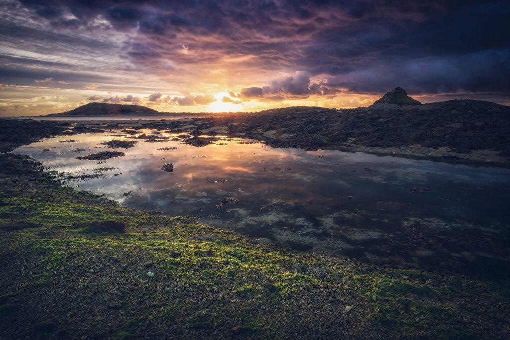 Sunset taken from Tresco on Scilly